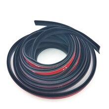 Universele 4 Meter V Type Afdichting Verzegelde Strips Trim Vulstoffen Autoruit Afdichting Voor Auto Venster Tochtstrip Glas