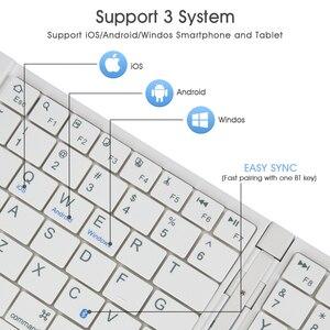 Image 5 - Rii K09 Di Động Da Gấp Mini Bluetooth Tây Ban Nha Bàn Phím Có Thể Gấp Lại Cho Iphone, Điện Thoại Android, Máy Tính Bảng, Ipad máy Tính