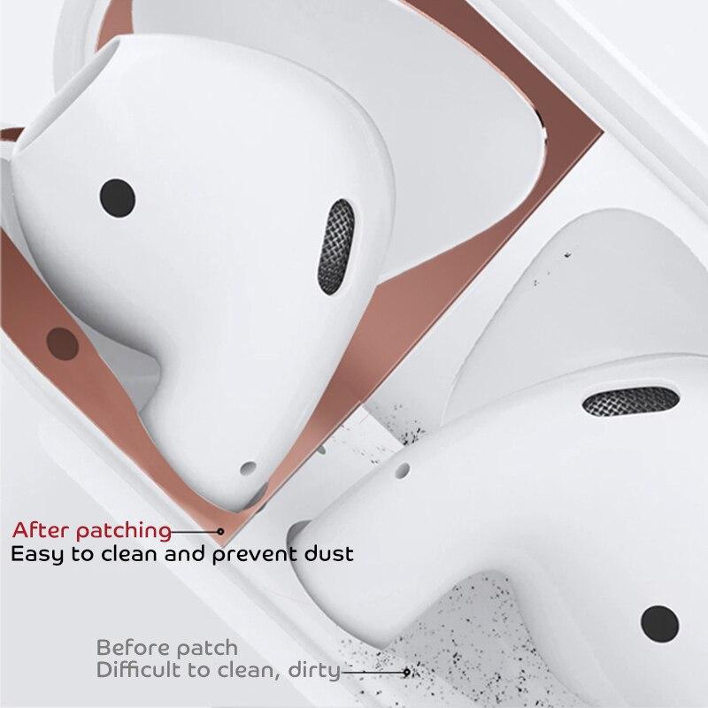Mbrojtës pluhuri metali për Apple AirPods 1 2 kasetë mbulesë - Audio dhe video portative - Foto 2
