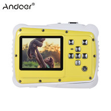 "2.0 ""LCD 720P HD Mini Kamera Digital 5MP Tahan Air Portable Camcorder W/Built-In Mikrofon Hadiah Terbaik untuk anak-anak Anak-anak Gadis(China)"