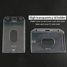 Transparent Clear Badge Holder Plastic Case Badge Id Card Holder Work Card IC Card Bus Card uv ink printed barcode card and plastic member key card 3 part supply