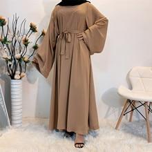 Eid Mubarak Abaya Dubai Turkey Kuftan Muslim Abayas for Women Hijab Dress Caftan Marocain Islamic Clothing De Moda Musulmanan