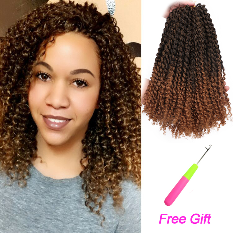 Long 12inches Marlybob Afro Kinky Curly Hair Ombre Crochet Braids 24roots 3pieces Pack Synthetic Crochet Braiding Hair Weave Marley Braids Aliexpress
