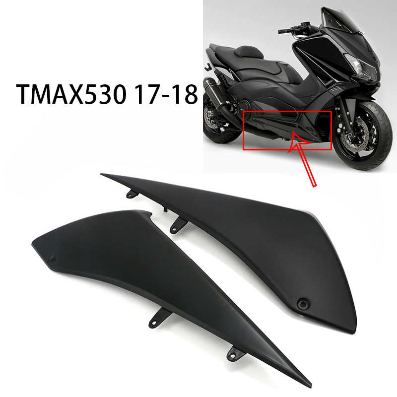 2 Piece Motorcycle Left Right Under Side Fairings Panel Black Cover For Yamaha T-MAX TMAX 530 TMAX530 2017 2018 ABS Plastic