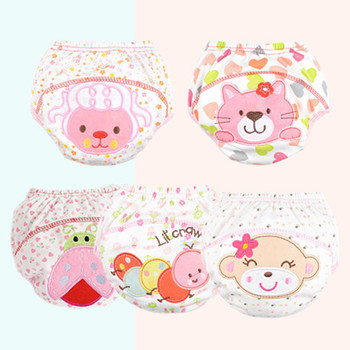 Kids Training Pants Baby Diaper Reusable Nappy Washable Cotton Learning Underwear 0 To 3 Years QD05 image