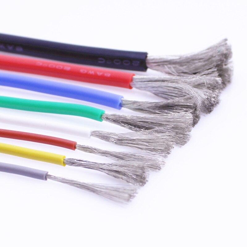 -Resistente ao calor silicone wire12AWG 13 14 15 16awg 17 18 20 22 24 26 28 30 AWG frio-resistente de alta temperatura 200 °-60 °