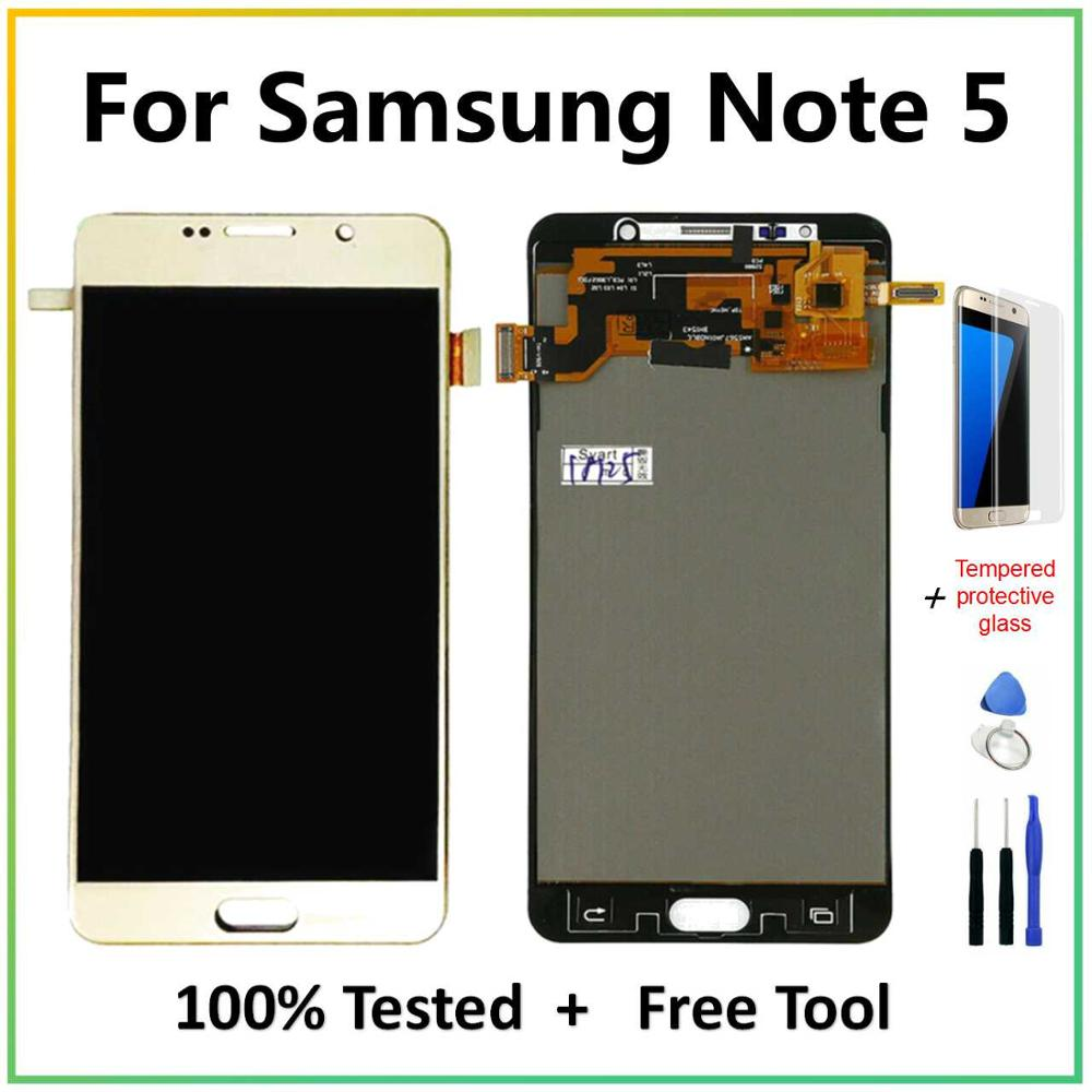 For Samsung Galaxy Note 5 LCD TFT Display N9200 N920A N920T N920G Touch Screen Digitizer Assembly 5.7'' For Samsung Note 5 LCD