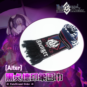 Anime Fate Grand Order Jeanne d #8217 Arc Alter Fashion szalik ciepły szalik jesienne zimowe szaliki Student świąteczny prezent tanie i dobre opinie RANMO CN (pochodzenie) COTTON Unisex Dla dorosłych 212*24cm Kostiumy