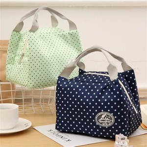 Lunch-Bag Canvas Picnic Cold Insulated Portable Carry-Case Stripe Newest