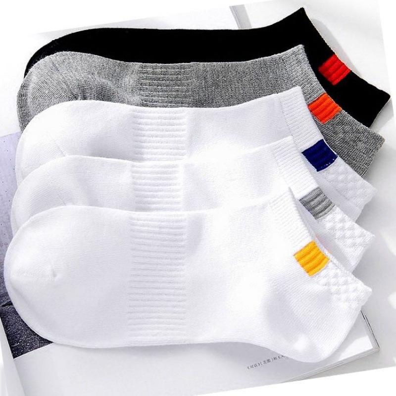 10pieces=5pair/lot Summer Cotton Man Short Socks Fashion Breathable Man Boat Socks Comfortable Casual Socks Male white hot