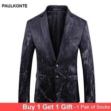 PAULKONTE Autumn Winter New Crack Style Mostly Male Blazer Fashion High Quality Business Party Wedding Mans Jacket