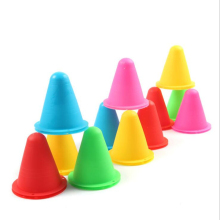 10pcs/lot Skating Marker Cones Roller Football Soccer Marker Cup Speed Training Equipment Slalom Roller Skate Pile Marking Cup