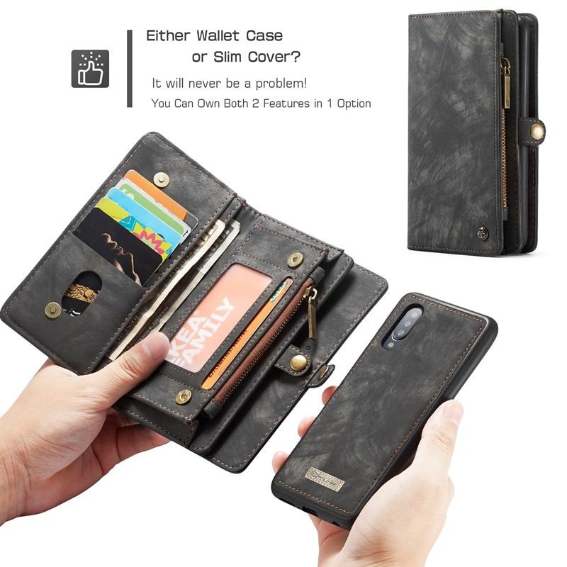 Étui en cuir de luxe pour Oneplus 7 étui portefeuille Coque de téléphone pour Oneplus 7 Pro étui magnétique détachable Fundas porte-carte Hoesje