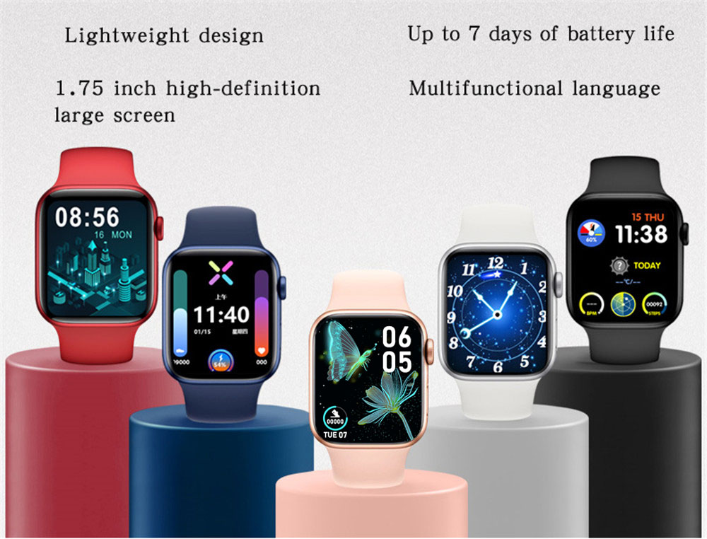 H9488bcec47fb41fc860f12599f8ebac5D 2021 HW22pro Smart Watch Men Women Split Screen Display Original Smartwatch Body Temperature Monitor BT Call For Android IOS IWO