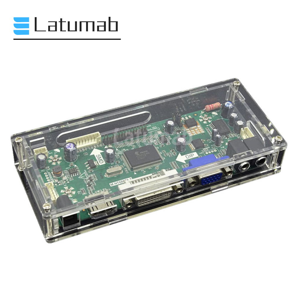 Latumab Board Box Case For LEDLCD Control Board Transparent Acrylic Protective Case Box For M.NT68676 Device Board