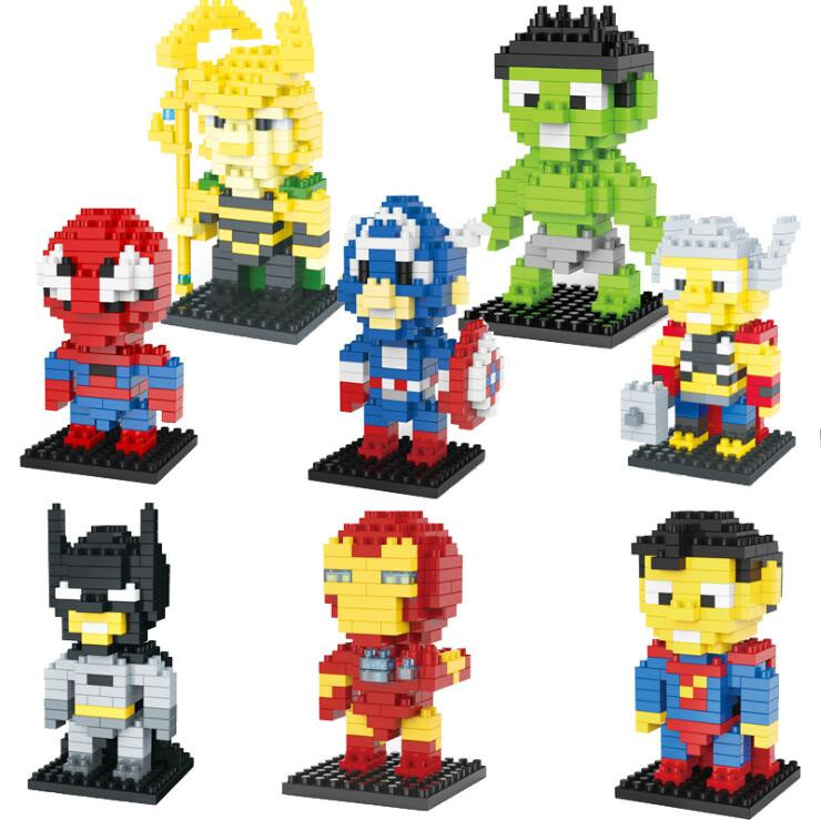 marvel Big Figures Building Block Super Hero Thanos Hulk Iron Spider man Hulk Batman Black Panther Croc Bane Venom Toys For Kids