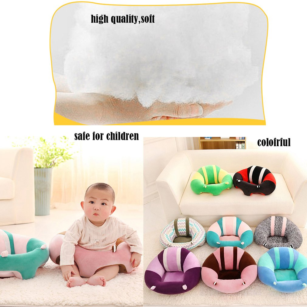 COZIME Newborn Baby Inflatable Chair Seat Infant Babies Dining Lunch Sofa Safety Comfortable Cotton Plush Legs Feeding Portable