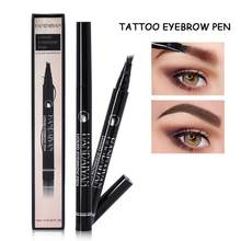 4 Color Waterproof Natural Eyebrow Pen Four-claw Eye Brow Tint Makeup Four Colors Eyebrow Pencil Brown Black Grey Hot Sale TSLM2(China)