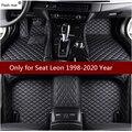 Flash Mat кожаные автомобильные коврики для SEAT Leon 1998-2013 2014-2016 2017 2018 Пользовательские Авто накладки на ножках не оставят автомобильный коврик чех...