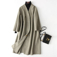 Wool Coat Women 4040 Spring New Women's Cashmere Jackets Long Double Wool Coat Female Outerwear casacos 38503 WYQ3390(China)