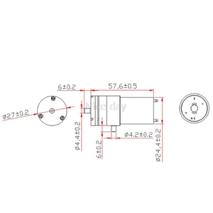 2x DC 3 V-6 V 5V 370 Motor Micro Mini Luftpumpe Vakuum Für Aquarium Tank Sauerstoff GXMD
