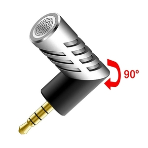 Image 1 - Professional Mic Super small size rotatable R1 Mini Condenser Microphone Mobile Phone Microfone Record for talk
