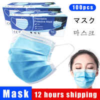 Face Mouth Masks Non-woven Protection masks PM2.5 prevent Anti virus formaldehyde Dust Bad Smell masks 3 lays Protective masks