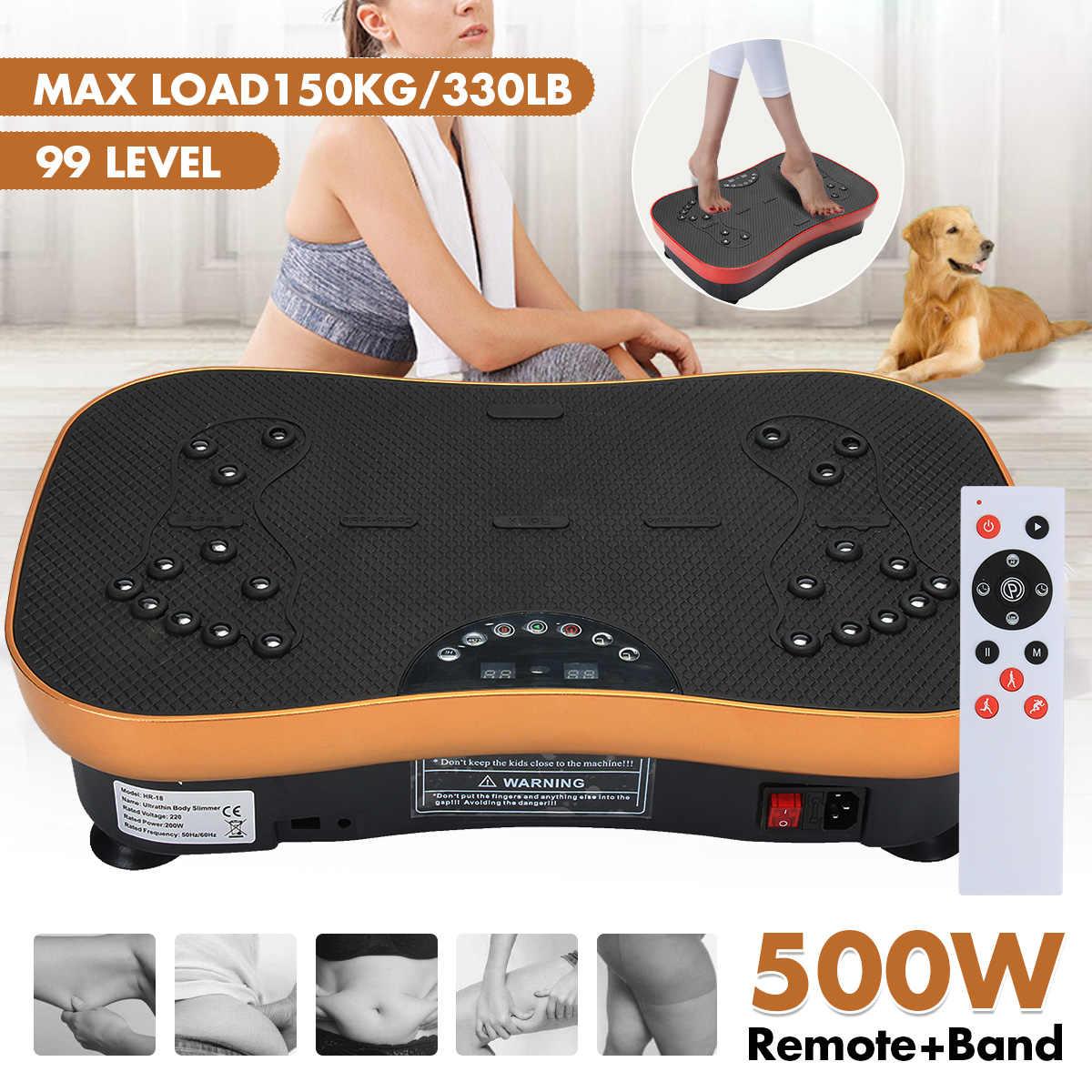 330lb Exercise Fitness Slim Vibration Machine Trainer Plate Platform Body Shaper