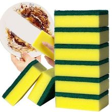 3 Pieces Durable Dish Washing Brush Two Sides Cleaning Sponge Kitchen Ware Cleaning Tool convenient durable sponge bud sculpt dish hair tool