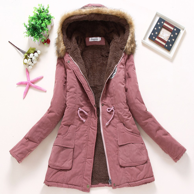 Ailegogo Women Winter Military Coats Cotton Wadded Hooded Jacket Casual Parka Thickness Warm XXXL Size Quilt Snow Outwear 4