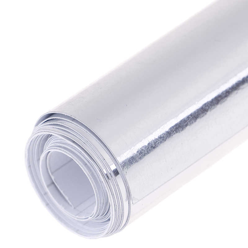 4 rozmiary srebrny chrom lustro elastyczne Vinyl Wrap rolka arkusza Film naklejki samochodowe naklejka arkusz najnowsze lustro