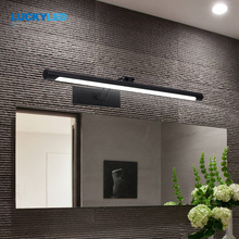 LUCKYLED luz Led moderna para espejos 8W 12W AC90-260V montado en la pared lámpara de pared Industrial Baño Luz impermeable de acero inoxidable