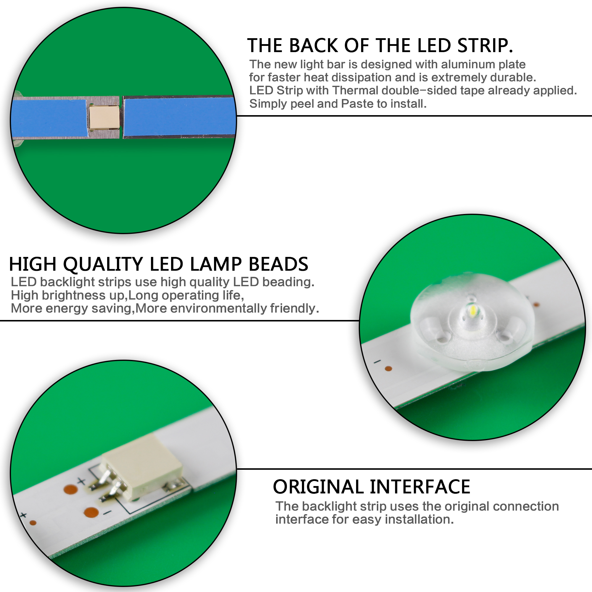 Image 5 - New Full Backlight Array LED Strip Bar For LG 47LN540V 47LN613V 47LA620V 47LN5758 47LN5757 47LN575R ZE LC470DUEIndustrial Computer & Accessories   -