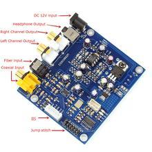 ES9038 Q2M I2S DSD Fiber Coax DAC Input Decoder Board YJ xmos cpld xu208 usb digital interface i2s output for es9038rpo ak4497 dacak4497 es9018 es9028 es9038 dac decoder board