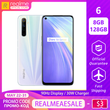 realme 6 8GB RAM 128GB ROM Global Version Mobile Phone 90Hz Display Helio G90T 3