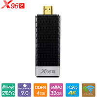X96S TV Stick Android 9.0 TV Box Amlogic S905Y2 DDR4 4GB 32GB Smart TV Box 2.4G 5G double WiFi Bluetooth 4.2 4K H.265 lecteur multimédia