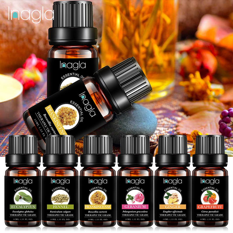 Inagla Frankincense Essential Oil Pure Natural 10ML Pure Essential Oils Aromatherapy Diffusers Oil Relieve Stress Home Air Care