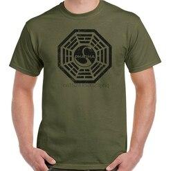 Dharma T-Shirt hommes perdus série TV unisexe haut cygne Logo programme en détresse
