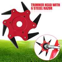 6 Blades Grass Trimmer Head 65Mn Brush Cutter Weed Brush Cutting Head Easy Cutting Garden Power Tool Accessories for Lawn Mower