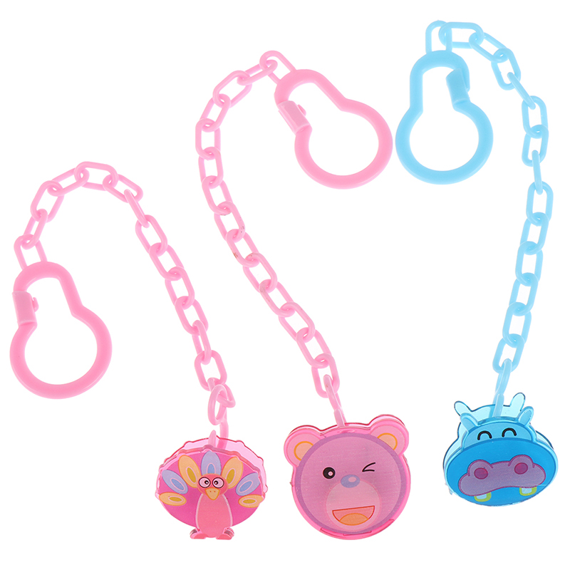 Cartoon Animals Shape Pacifier Clips Nipple Safe PP Strap Pacifier Frog Bear Clip Chain Holders Newborn Baby Feeding Accessories