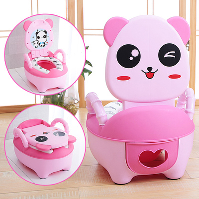 Portable Panda Pot Children's Travel Pot Cute Boys Urinal Infant Girls Potty Seat Car Potty  Training Baby Pots Baby Toilet Seat