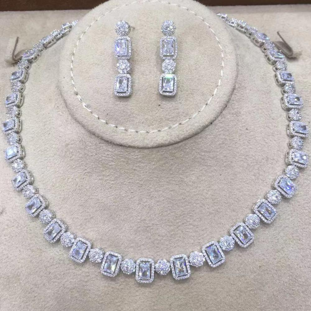 GODKI Charms Wedding Jewelry Sets Making Jewelry Sets Statement Necklace Earrings Accessories