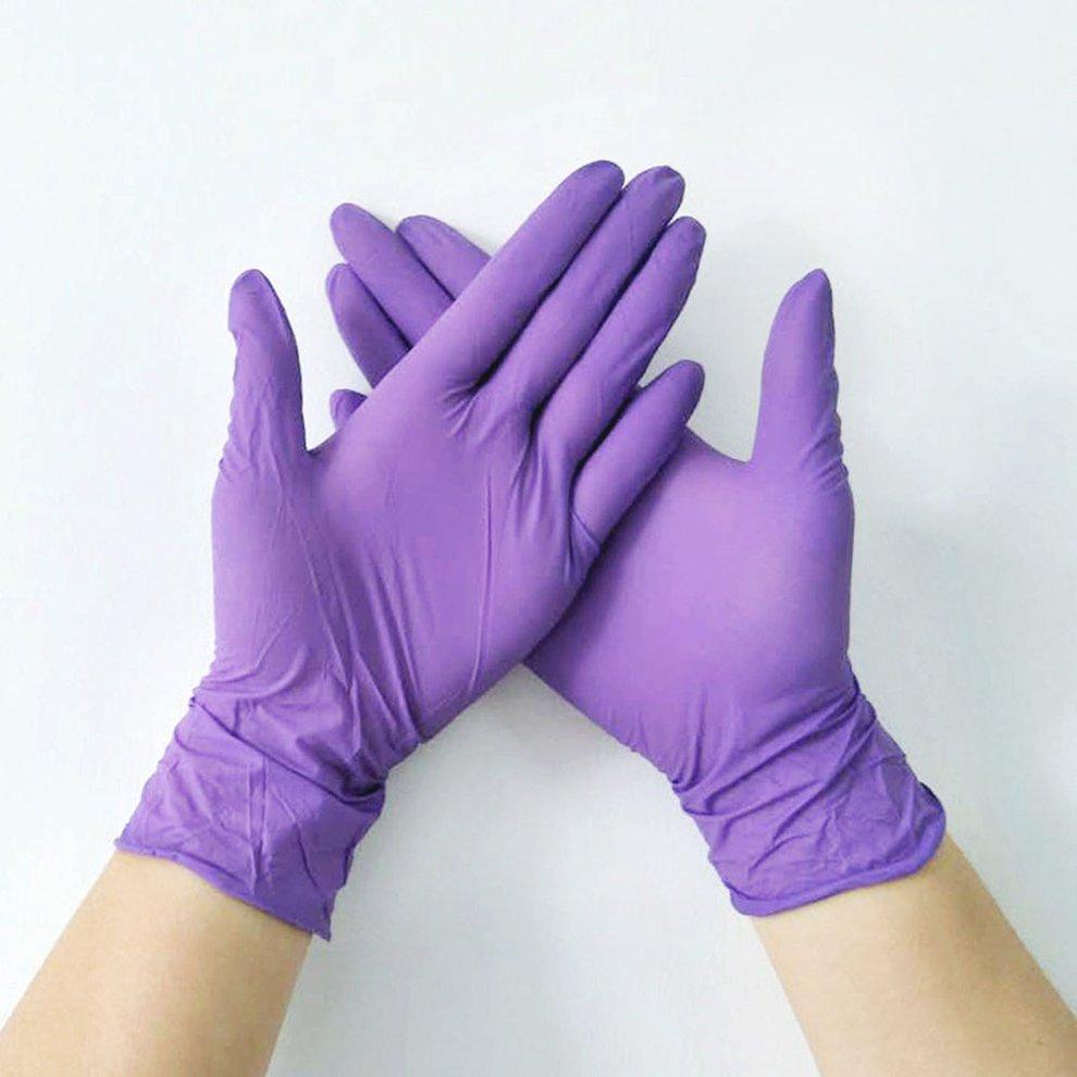 Disposable Gloves Nitrile Rubber Dishwashing/Kitchen/Medical /Work/Rubber/Garden Gloves For Left And Right Hand 50/100Pcs
