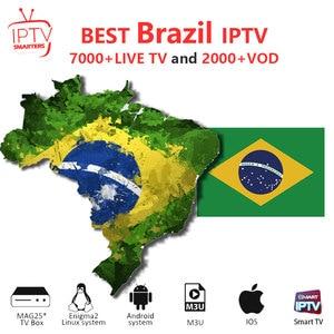Brazil Iptv Smart Tv 7000+Live & 2000+VOD Europe IPTV Channels Iptv Subscription Great Bee Arabic Iptv Htv Rtv Box Top Model(China)