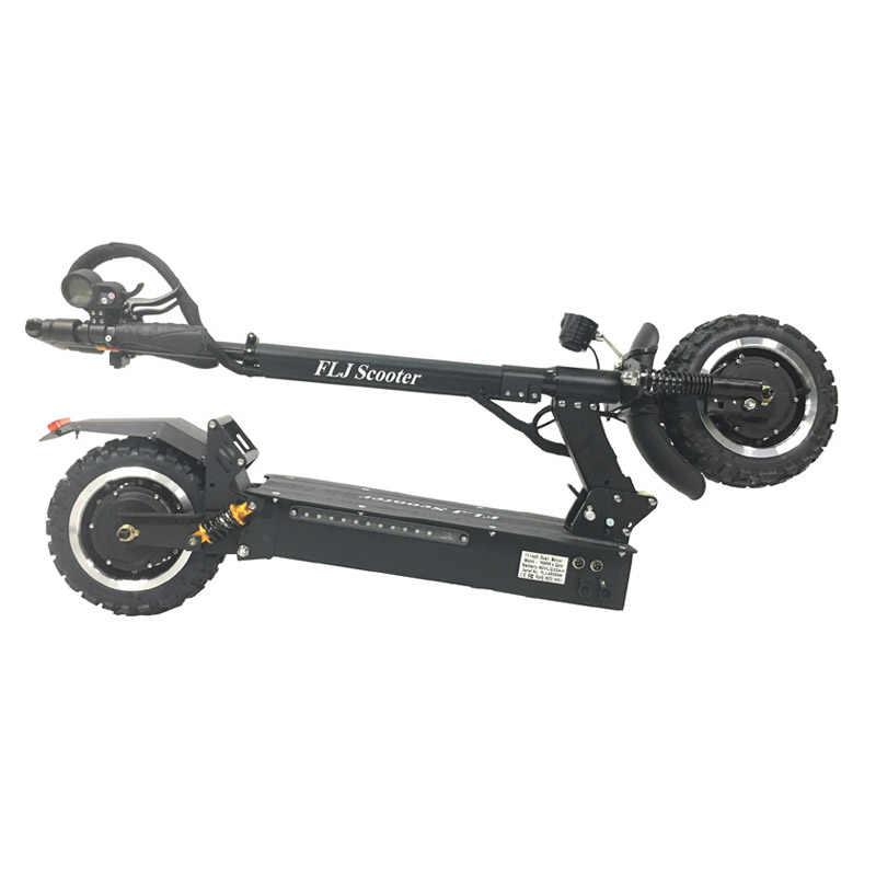FLJ Электрический скутер для взрослых с 60 в/3200 Вт Мощный самокат толстой шины больших колесных электрических скутеров взрослых с масляный тормоз