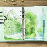 5 Pcs/set Beautiful Landscape Notebook Divider A5 A6 Spiral Notebook Loose Leaf Index Pages Notebook Paper Inside Pages