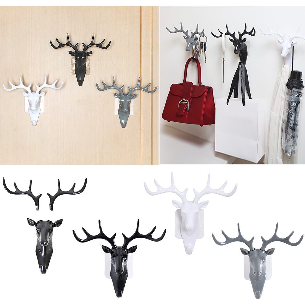 Animal Head Wall Door Clothes Hook Display Storage Racks Art Sculpture Decor