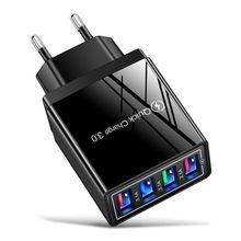 Caricatore rapido USB 3.1A a 4 porte Carregador Cargador per iPhone 12 11 X Samsung S8 Xiaomi mi 11 Huawei Chargeur adattatore di ricarica