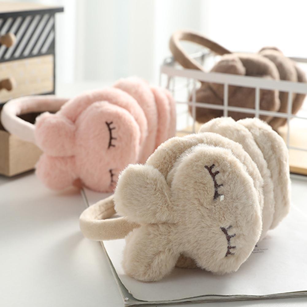 Хит продаж, милые зимние теплые наушники для девочек, унисекс, плюшевые теплые наушники с кроликом, Детские милые зимние наушники, наушники