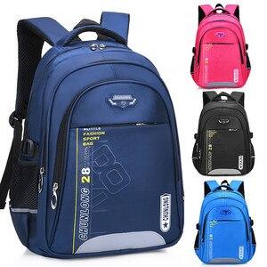 Image 1 - Новые детские школьные ранцы для девочек и мальчиков, школьный рюкзак, черные школьные ранцы, рюкзаки для начальной школы, детские большие школьные рюкзаки
